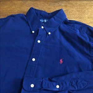 Men's Ralph Lauren Long Sleeve Button Up Size XL